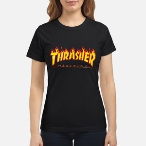 Classic black thrasher T